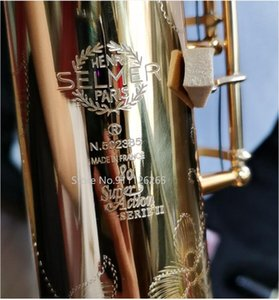 Super Action 80 Series II Soprano Saxophone Pitch B Gold Sax Mouthpiece Professional Grade