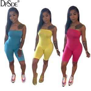 Combinaisons pour femmes Rompes DPSDE 2021 Fashion Summer Sexy Movement Style Sans manches Simple Couleur Pure Couleur Pantalon court