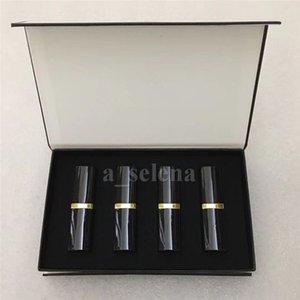Профессиональная макияж для губ Матовая помада набор 4 цвета губы косметические черные трубки 4шт / комплект высокого качества