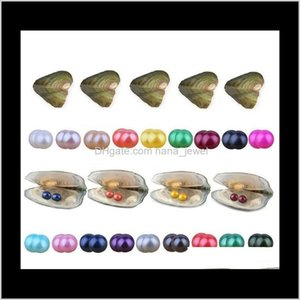Loose Beads Jewelry Drop Delivery 2021 Wholesale Twins Round 6-7Mm 27Colors Freshwater Natural Cultured In Fresh Oyster Pearl Mussel Farm Sup