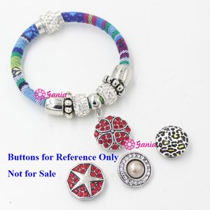 10pcs lot New Arrival Snap Jewelry 10 Colors Cotton Rope Ethnic Bohemia Mexican Style Snap Bracelet for women Pulsera Bijoux