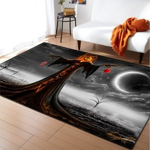 Carpets Happy Halloween Living Room Carpet 3D Pumpkin Lantern Printed Rugs Home Decor Soft Memory Foam Bedside Area