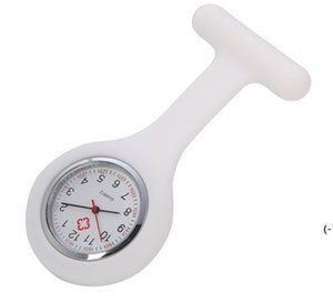 Presente de Natal Enfermeira Medical relógio de silicone clipe relógios de bolso moda enfermeira broche fob capa de túnica doutor relógios de quartzo de silicone bwc6908