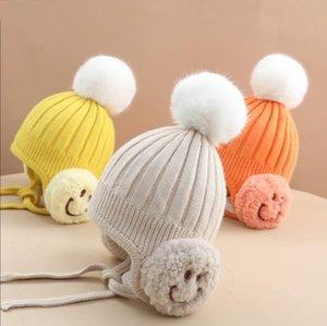 New Designers Winter Cute Woolen Cap Baby Hat Baby Wool Warm Cap Baby Children Beanie Hats