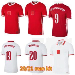 2021 Polska Lewandowski Socker Jersey National Team Home и прочь 20 21 Milik POL Piszczek Polonia Футбольные футболки Мужчины Униформа