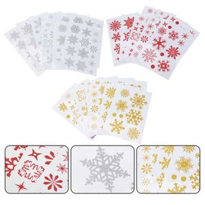 Window Stickers 27Pcs Clear Printing Sticker Showercase Festival Mall Decoration