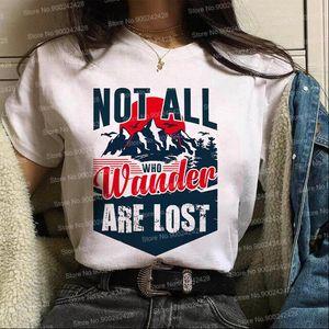 Les femmes t-shirt Vogue pas tous ceux qui errent sont perdus de chemise les montagnes qui appellent et je dois aller explorer plus