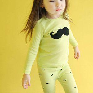 Pajamas Kids Childrens Sleepwear Girls Clothes Spring Autumn Cotton Long Sleeve Suits B4227