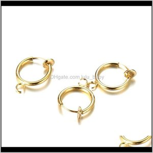 Wholesale Accessories Stainless Steel Nonpiercing Ear Cuff Spring Fake Nose Ring Can Hang Charms 9Xtz2 Clasps Hooks Hkjyv