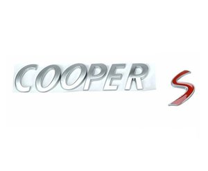 Silver Red ABS Plastic Car Trunk Rear Letters Badge Emblem Decal Sticker for BMW Mini Cooper S