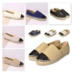 Factory Direct Sales Espadrilles Women's Designer Casual Shoes Fashion Real Genuine Leather Loafers Slip-On Platform Dress Shoe Size 34--42