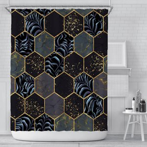New Cortina creativa cortina digital cortina impermeable poliéster cortina cortina sombrilla cortinas de ducha personalización al por mayor ood5460