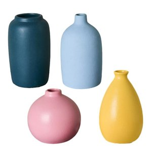 Vases Flower Vase Decoration Home Ceramic Pot Desktop Decor Basket Nordic Holder Random Fine