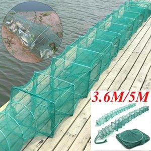 3,6 м / 5м Нейлоновая рыбалка Net Складные портативные крабы раки лобстер ловушка Load Trap Fish Eeal креветки креветки приманка приманка