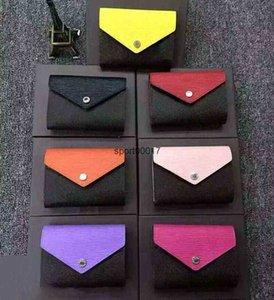 Wholesale female leather short wallet multicolor lady card holder classic mini zipper pocket coin purse stora