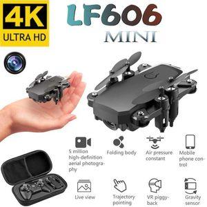 Mini Drone LF606 4K HD Камера Складной Quadcopter Одно ключ Возврат FPV Дроны Следуйте за мной RC Вертоптер Четырекоптер Детские игрушки 210607