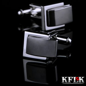 KFLK Jewelry French shirt Fashion cuff link for mens Brand gray Cufflink Wholesale Button High Quality guests Great workmanship durable and nice