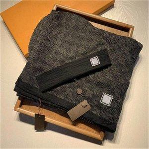 2022 High Quality Шляпная шарф набор для мужчин и женщин зимний шерстяной шарф дизайн т шерстяные шансы обернуть Scarf1