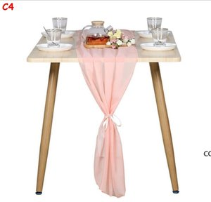 Gorgeous Chiffon Table Runner Inch Romantic Wedding Decor Bridal Shower Baby Shower Birthday Party Cake Table Decorations DHB8429