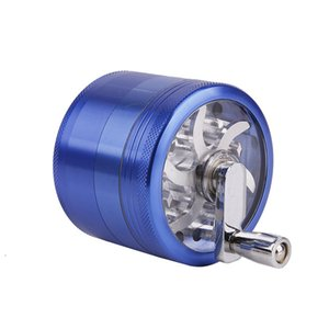 Smoke grinders herb Hand crank metal 63mm 4 layer tobacco grinder for smoking 6 colors Zicn alloy cnc teeth colorful