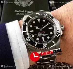 EM Asiático 2813 Reloj automático para hombre Rollie 114060 Stee Case Ceramics Bezle Black Dial Relojes deportivos Oystersteel Pulsera CO-marca edición limitada Swisstime R204