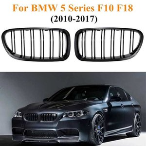 Front Kidney Grilles Gloss Black For BMW F18 F10 F11 5 Series 2010 2011 2012 2013 2014 2015 Replacement Racing Grilles