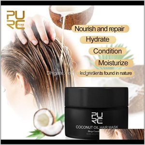 Purc 50Ml Coconut Oil Hair Mask For Repair Damaged Hair To Make Hair Soft And Smooth Use For All Types 6Pcs H2Uab Bs2Ys