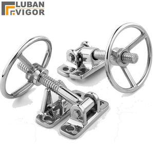 Handles & Pulls 304 Stainless Steel Hand Wheel Hinge Steamer Equipment Door Handle Handwheel Access Compression Hinges