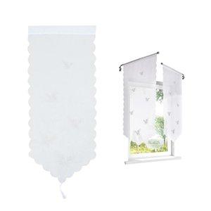 Curtain & Drapes 1pc Creartive Embroidered Pattern Window Triangle Drape Furniture Accessory 40x60