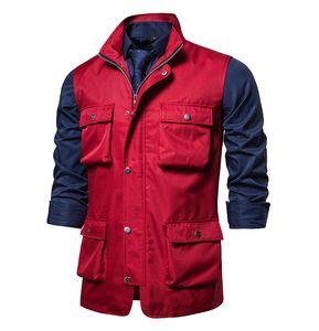 Autumn 2020 New Men's Casual Multi Pocket Solid Color Vest Large Men's Sleeveless Jacket