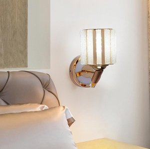 Wall Lamps Crystal Lights Nordic Bedroom Study Bedside Lamp Living Room Background Staircase Aisle Simple Lighting Fixture