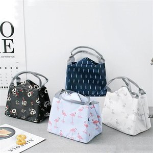 8 Style Portable Flamingo Lunch Bag Cooler Bag Thermal Insulation Bags Travel Picnic Food Lunch box bag HWE9381