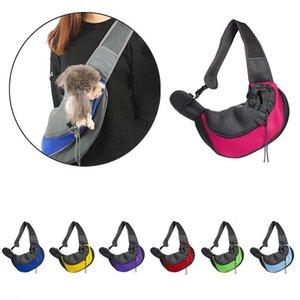 Mesh Pet Dog Carrier Outdoor Travel Handbag Pouch Breathable Oxford Single Shoulder Bag Sling Comfort solid color Tote Bags