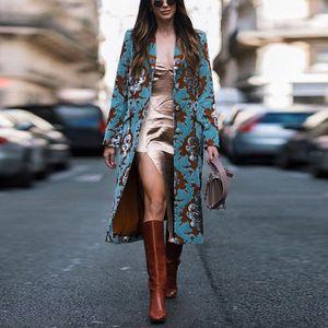 Vintage Women's Jacket Button Pockets Warm Knitted Long Coat Women Coats Outerwear Fashion Winter Women Wool Blends Streetwear M90a#