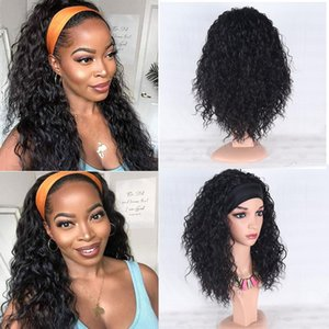 Synthetic Wigs Water Wave Headband Wig For Black Women Glueless Machine Made