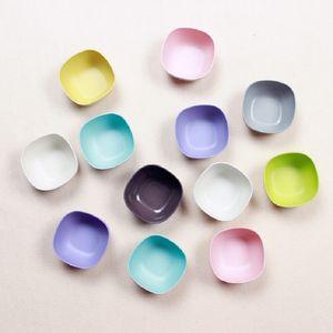 Snack a forma di frutta quadrata di colore puro ciotole di frutta Piccola mini Bamboo Fiber Bowl Kitchen Stoviglie all'ingrosso RRD7517