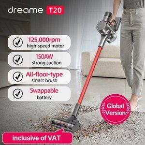 Dreame T20 mano limpiadora inalámbrica de vacío inteligente Cepillo de superficie inteligente 25kPa Todo en un colector de polvo Piso Alfombra Aspirador