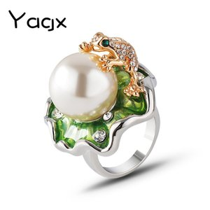 Ювелирные изделия Lotus Leaf Shibing Set Pearl Diamonding Ring Смешанная партия женского декоративного o0st