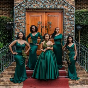 أكوا الأخضر حورية البحر طويل وصيفة الشرف فساتين 2021 مثير زائد حجم حديقة خادمة الإفريقية الشرف زفاف الفستان رداء فام