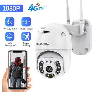 1080P 4G 와이파이 카메라 2MP PTZ 돔 무선 GSM SIM 카드 보안 야외 CCTV P2P IR 야간 투시 30M IP 카메라