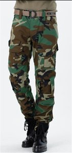 Мужские повседневные прямые камуфляжные печатные брюки модные карманные лоскутные грузовые брюки мужские спорты середины полной длины брюки