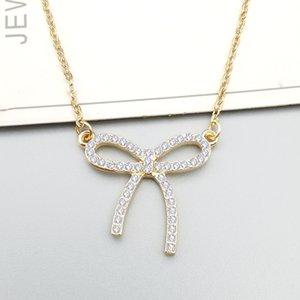Fiocco semplice con catena di clavicola per collana di diamanti