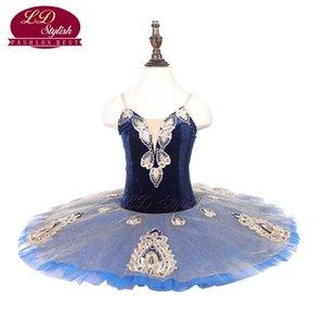 Child Performance Ballet Tutu Costumes Kids Dance Dresses Fashion Stagewear Apperal Blue SD18084