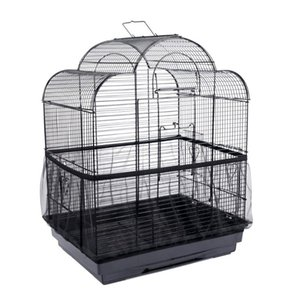 Bird Cages Mesh Cage Cover Nylon Receptor Seed Guard Parrot Soft Easy Cleaning Airy Fabric Catcher Supplies