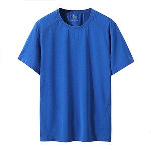 Sport Mens Sky Blue Quick Dry T-рубашки мода прохладный футбол Джерси 2021 летние короткие рукава футболки Thet Tees негабаритные M-XXL