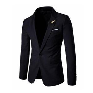 Мужские стильные повседневные чистые цвет высококачественный костюм мужские деловые повседневные платья мужская куртка Slim Fit Blazers Man размер пальто S-2XL