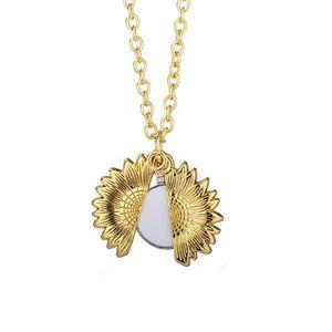 Термический трансфер подвесной сублимации подсолнечника ожерелье из цинкового сплава пустые некроны серебряные и золотые металлические орнаменты DDA5528