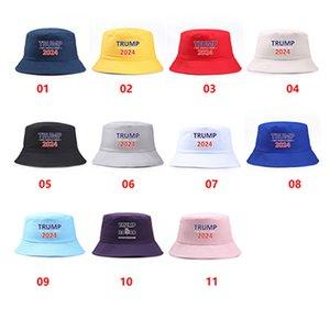 2024 Trump US Presidential Election Cap Bucket Keep America Great Letters Fisherman Visor Hat for Men Women IIA956