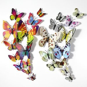 Fridge Magnets 3D Stereoscopic Simulation Butterfly Furniture Decoration With Magnet And Double-Sided Tape Living Room Refrigerator Decor 12