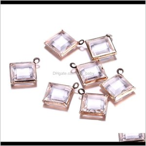 100Pcs 9X9Mm Wholesale Small Square Cube Rhinestones Crystal Silver Rose Gold Color Diy Jewelry Making Accessories Findings 4Vkaf 5Xwbw